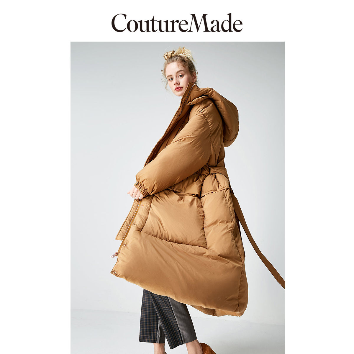 Vero moda feminino novo design com capuz longo ganso branco casaco parka | 318412561