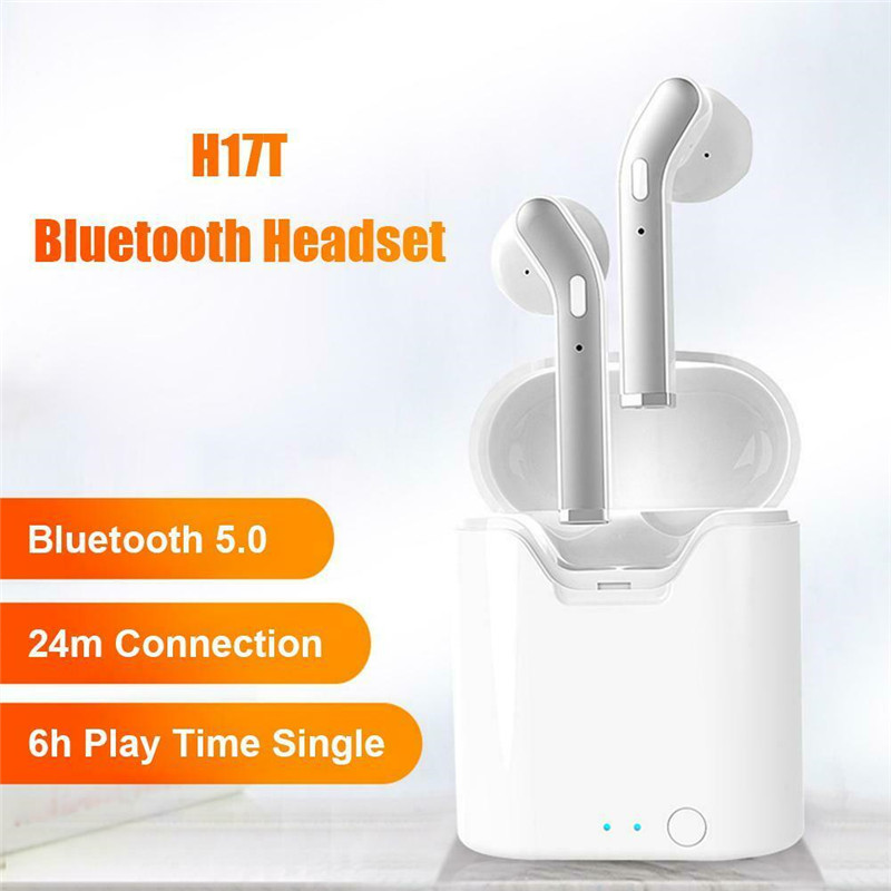 Upgrade H17T Bluetooth 5.0 TWS Earphone Stereo 5.0 Wireless Sports Headphone Headset With Mic Charging Box for All Smart Phones