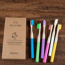 Новинка 6 упаковок Бамбуковая Съемная зубная щетка средняя щетина