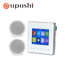 Oupushi AG-3 music controller with 4 ceiling speakers audio amplifiers bluetooth amplifier TF/USB HIFI sound quality for family