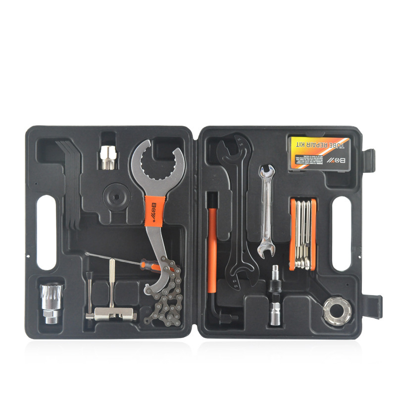 26Pcs/ Set Mountain Bike Patchs Outdoor Tool Bicycle Accessories Repair Bicycle Multi-Function Combination Tool Repair Tool