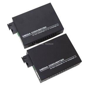 Image 1 - 1 Pair Gigabit Fiber Optical Media Converter 10/100/1000Mbps Single Mode Single Fiber