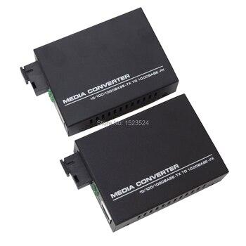 1 Pair Gigabit Fiber Optical Media Converter 10/100/1000Mbps Single Mode - discount item  50% OFF Communication Equipment