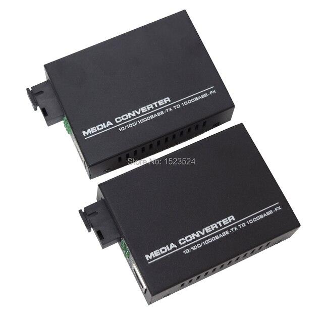 1 Pair Gigabit Fiber Optical Media Converter 10/100/1000Mbps Single Mode Single Fiber
