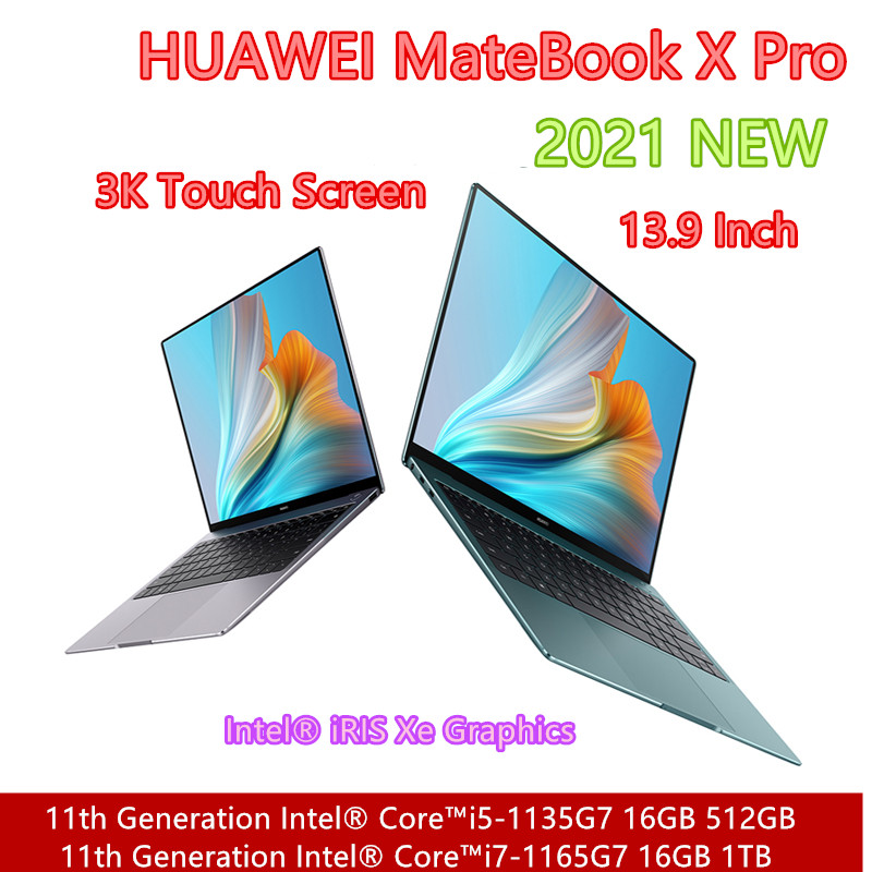 HUAWEI ноутбук MateBook X Pro 2021 с i7-1165G7 Ирис Xe графика 16GB оперативной памятью 1 ТБ SSD 13,9 дюйма Труба из углеродистого волокна 3K сенсорный экран с 7,0