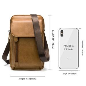 Image 2 - MVA Genuine Leather Mens Shoulder Bags For Men Crossbody Bags Male Messenger Bag Men Leather Handbag Phone Bags Mens Small 899