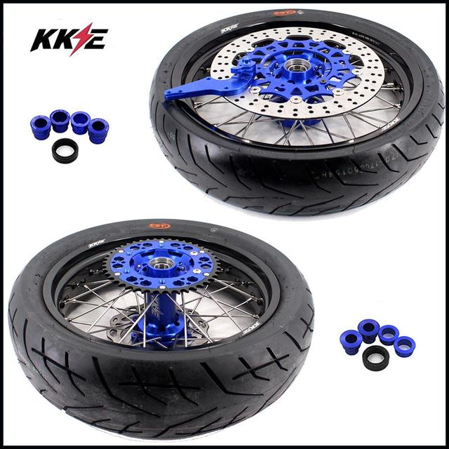 COMPLETE SUPERMOTO WHEELS & TIRES SET  1