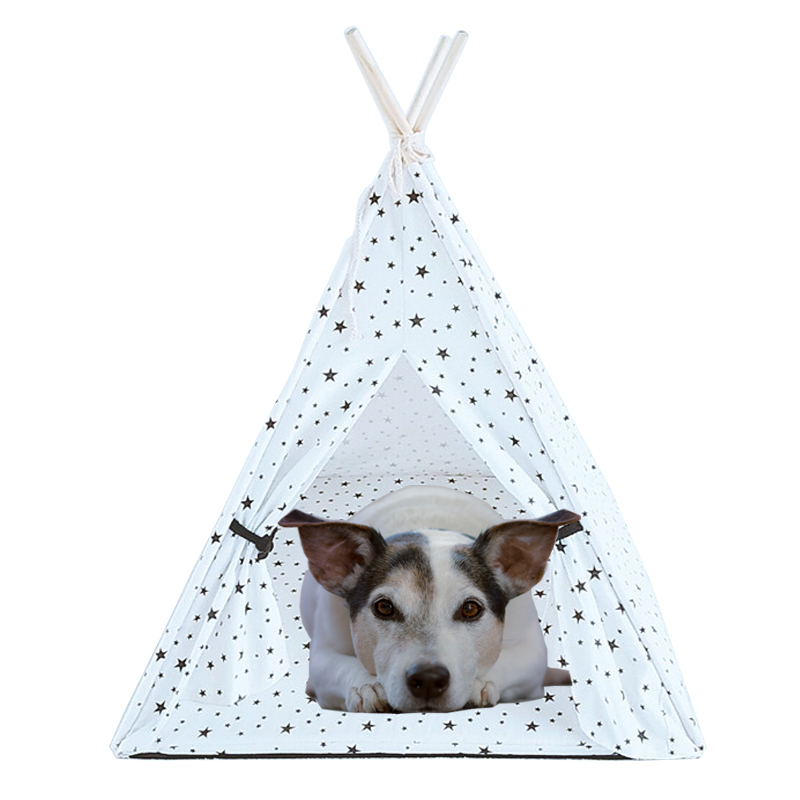Foldable Pet Tent Cat <font><b>Dog</b></font> House Bed Puppy Teepee Sleeping Mat Outdoor Portable <font><b>Dog</b></font> Tent Pet <font><b>Kennels</b></font> домик для кошки для собак image