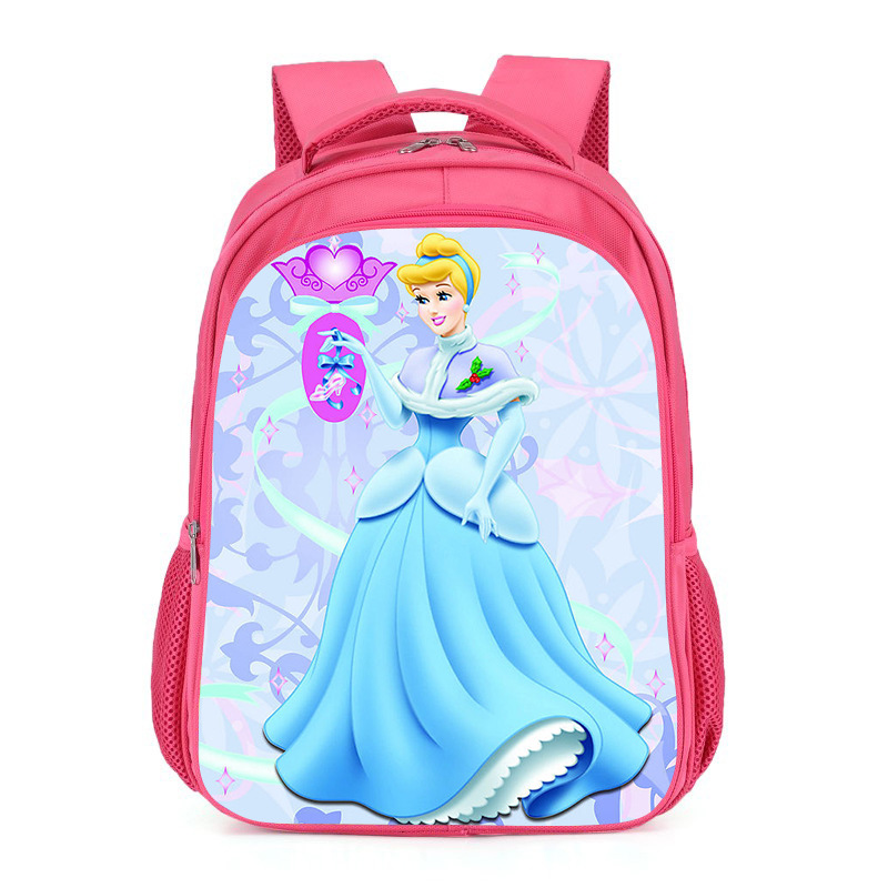 Fingertip Laugh Cartoon Young STUDENT'S Backpack 1-3 Grade GIRL'S Princess CHILDREN'S School Bags Barbie Sophia Backpack