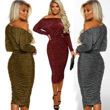 Hot Sexy Dresses Party Night Club Dress 2019 Women's Fashion Sexy Hip Shoulder Dress Vestidos De Fiesta Clothes FL30