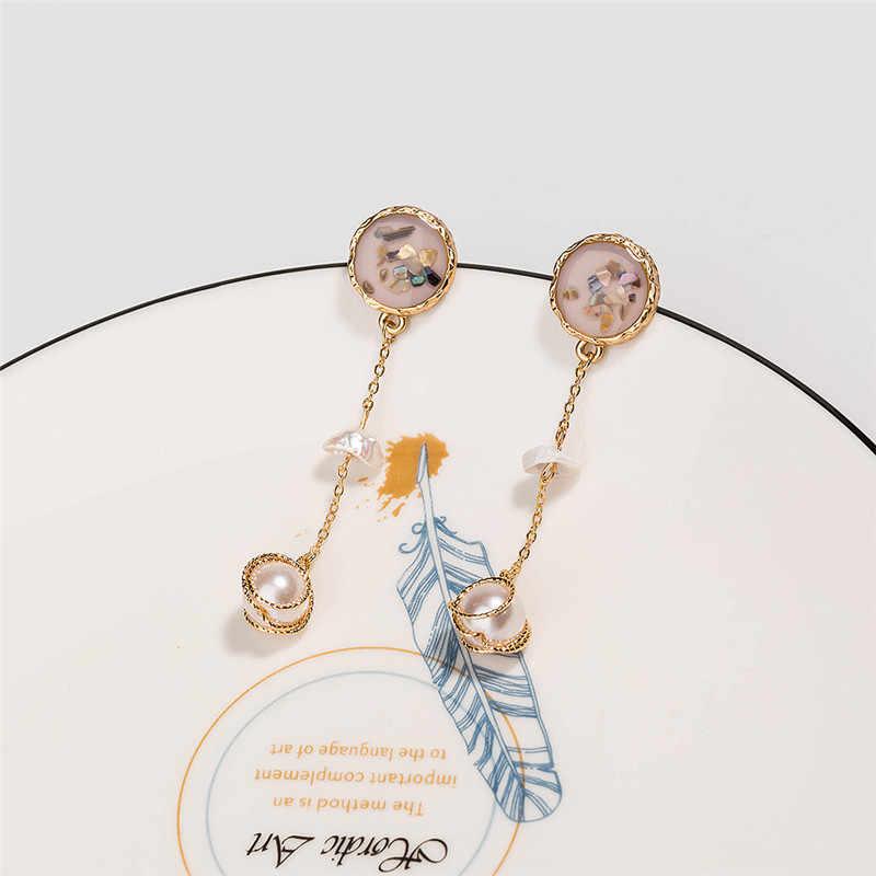 Hợp Thời Trang Rùa Biển Vỏ Acrylic Thả Bông Tai Nữ Hình Học Ngọc Trai Đá Tự Nhiên Hợp Kim Dây Chuyền Bông Tai Trang Sức Hàn Quốc