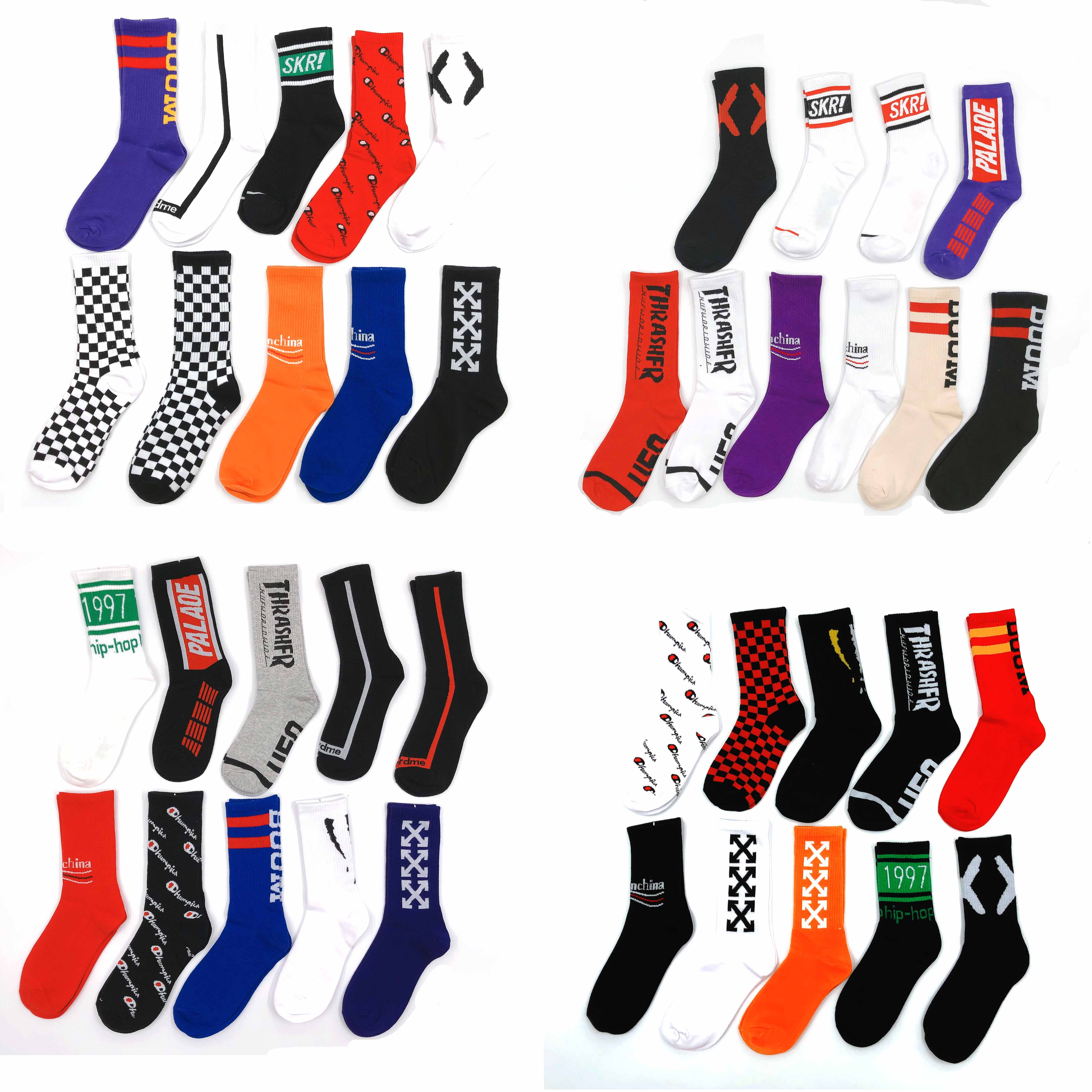 Women Men Socks Fashion Brand Street Pattern Sports Art Dance Hip-hop European American Style Colorful Sports Cotton Socks