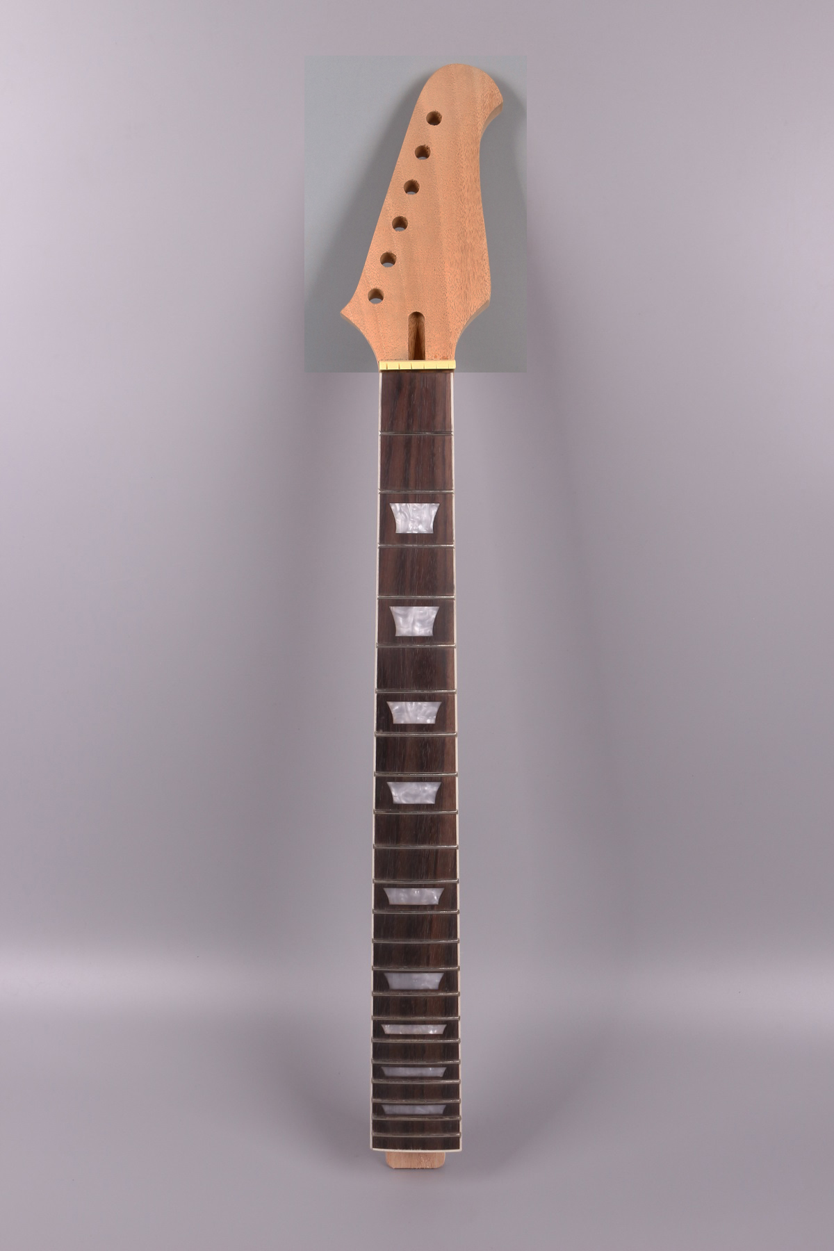 22fret Guitar Neck 24.75 Inch Mahogany Rosewood Fretboard Set In Glue On Style Firebird Headstock