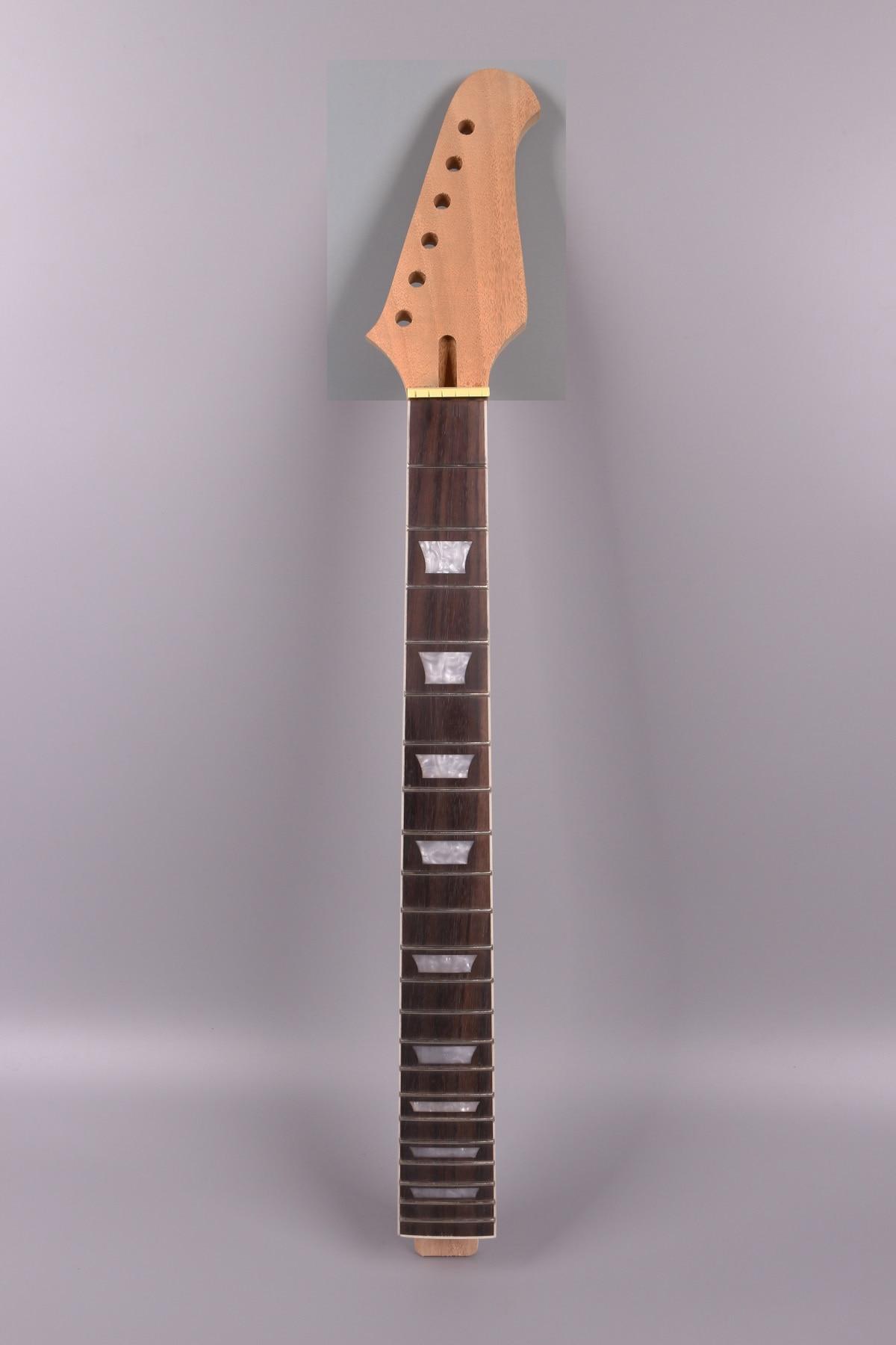 22fret Guitar Neck 24.75 Inch Mahogany Rosewood Fretboard Set In Glue On Style Firebird Headstock