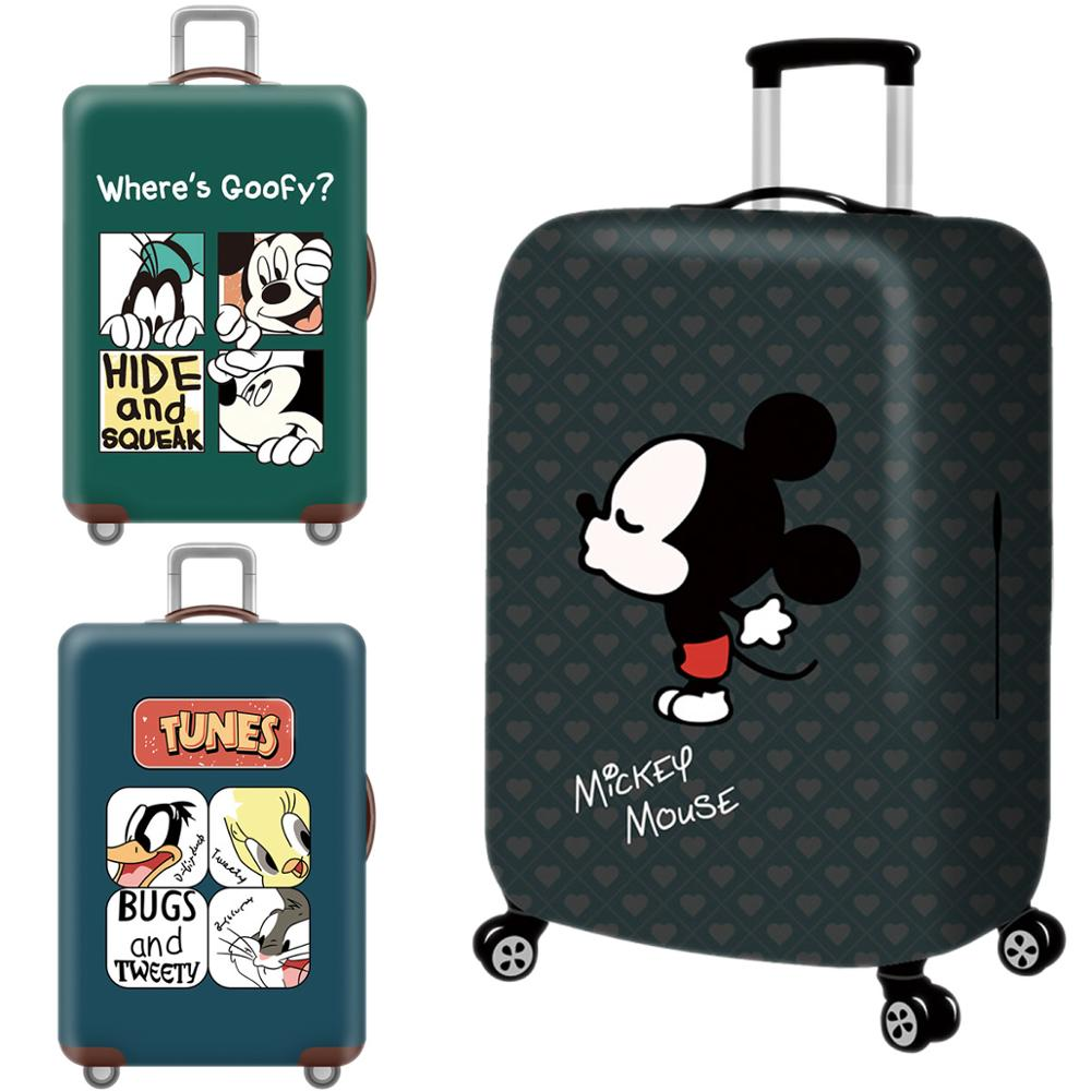 Cartoon 3D Mickey Luggage Cover Protective Case Waterproof Thicken Elastic Suitcase Cover For 18-32 Inch XL Travel Accessorie