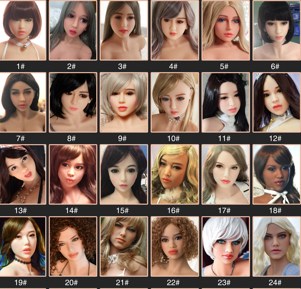american sex doll head options