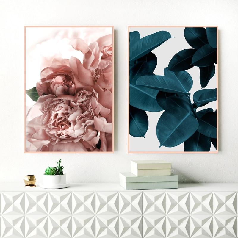 Blue Plant Canvas Art Print