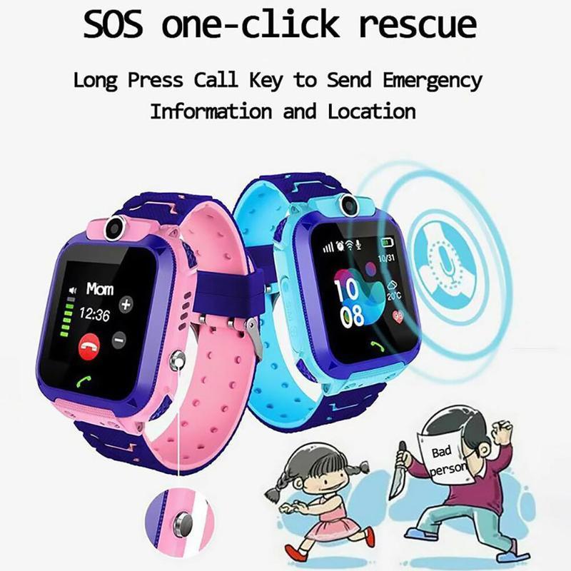 Kids Smart Watch Kids 4G Wifi GPS Tracker Child Watch Phone Digital SOS Alarm Clock Camera Phone Q12 Watch For Children Birthday