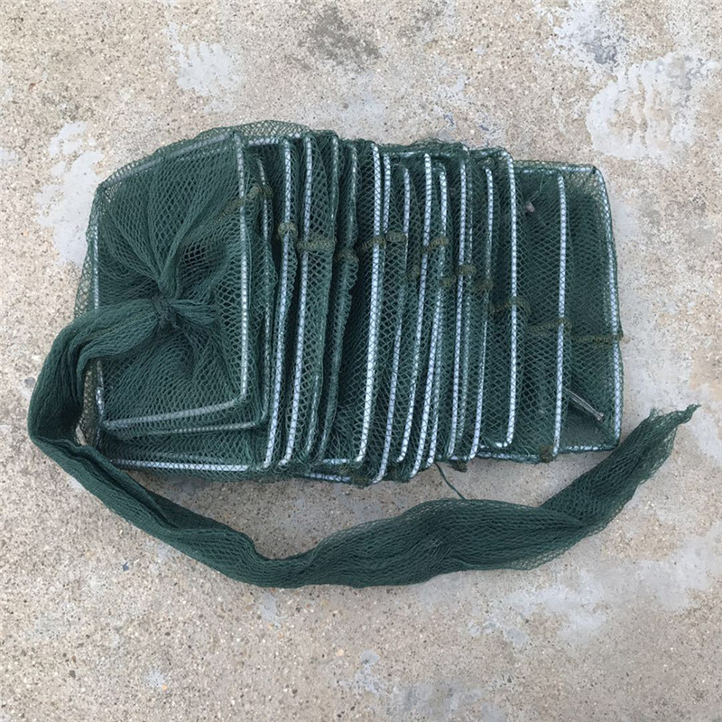 1PC Nylon Fishing Net Crab Crayfish Lobster Catcher Live Trap Fish Net Foldable Portable Fishing Net Eel Prawn Lure Nets