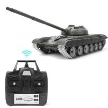 3939-1 RC Tank 1:16 Remote Control Russian T72 Tank Upgrade Metal Parts Simulate Smoke Battle Tank World 6.0 Professional