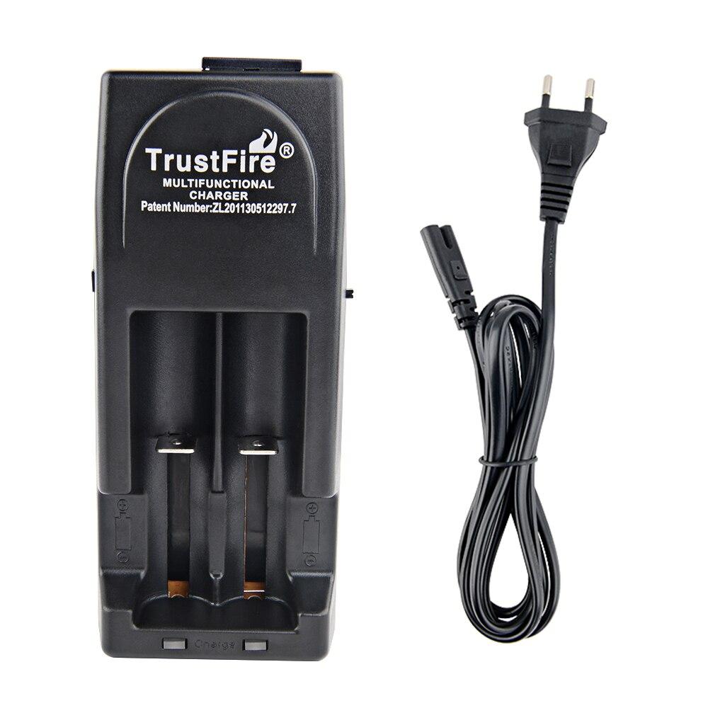 TrustFire TR-001 18650 14500 16340 AC DC литий Батарея Зарядное устройство 2 слота 3,0 V и 4,2 V для батарей Li-Ion (литий-ионных батарей IMR ионных батарей