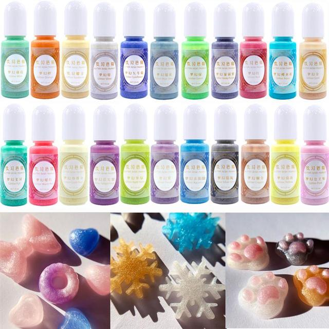 24 Color  Resin Pigment  Fantasy Color Essence Epoxy Liquid for DIY Resin Jewelry Making Accessories Resin Craft| |   -