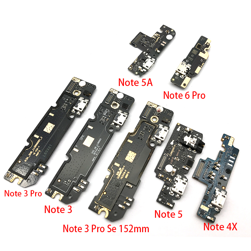 USB Charging Port Mic Microphone Dock Connector Board Flex Cable For Xiaomi Redmi Note 4 4X 5 5A 6 3 Pro Se 152mm Repair Parts