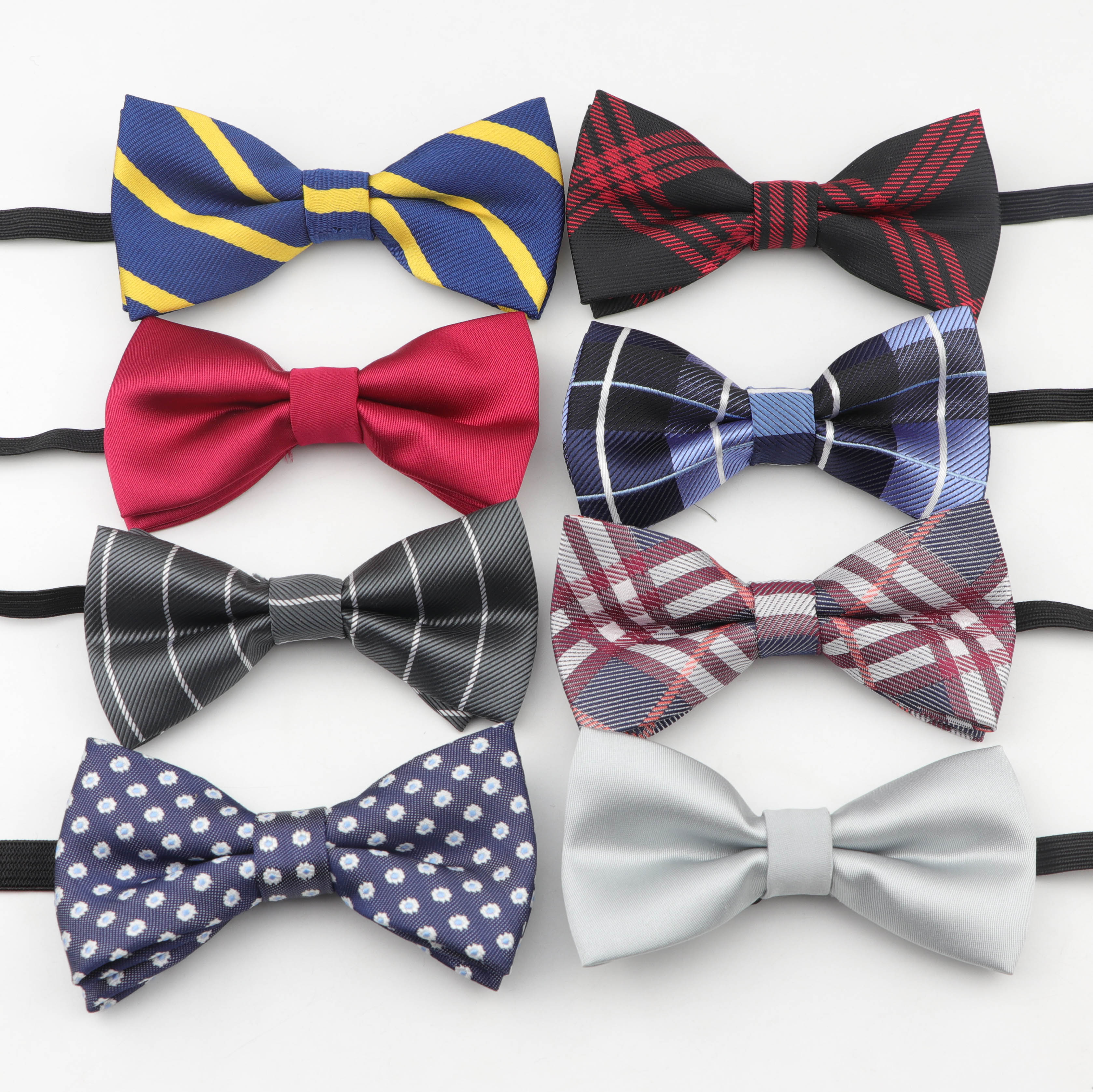 Plaid Children Bowtie Polyester Bowties Kids Classical Pet Striped Kid Butterfly Baby Bow Tie