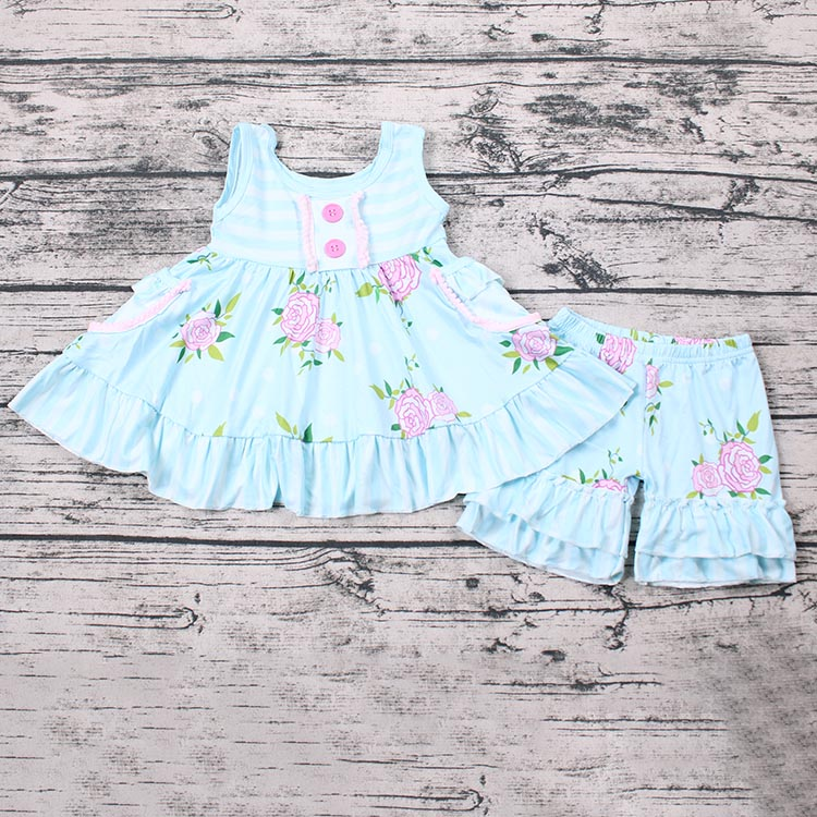 Flower Summer Set Baby Girl Outfits Dress And Shorts First Impressions Clothes