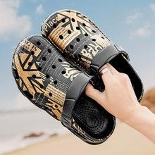 AODLEE Summer Mens Sandals Garden Beach Sports Big Size 47 Men's Slip-on Shoes Slippers Female Male Clogs Crocks Men Water Mules