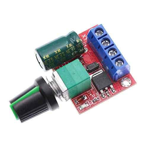 5A 90W PWM 12V DC MOTOR SPEED CONTROLLER โมดูล DC-DC 4.5 V-35 V ปรับความเร็วควบคุม Switch 24V