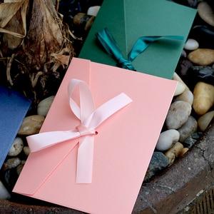 Image 3 - 50 adet/takım yüksek kaliteli şerit kağıt B6 ve DL boyutu zarflar inci kağıt DIY düğün İş davetiye zarflar/hediye zarf
