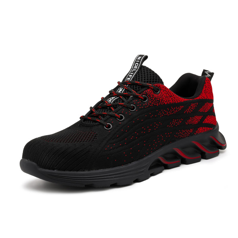 Fashion Safety Shoes Men Steel Toe Work Sneakers Male Shoes Breathable Work Shoes Anti-puncture Indestructible Security Footwear