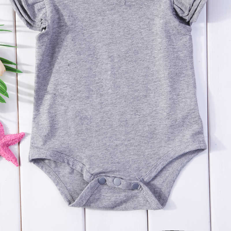 Infant Baby Girls Boys Clothes Short Sleeve Romper Outfits Jumpsuit Newborn Kids Boy Girl Ruffle Rompers 0-24M