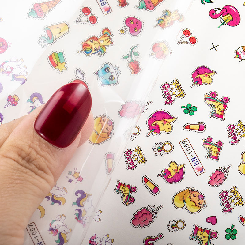 1 piece nail art stickers animal flower mixed pattern3D nail decoration DIY nails sticker nail foil