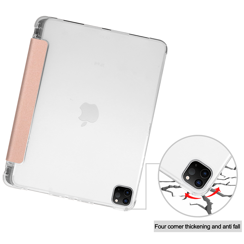 Clear TPU case with pencil slot for 2020 iPad Pro 11 inch A2228 A2068 A2230 transparent