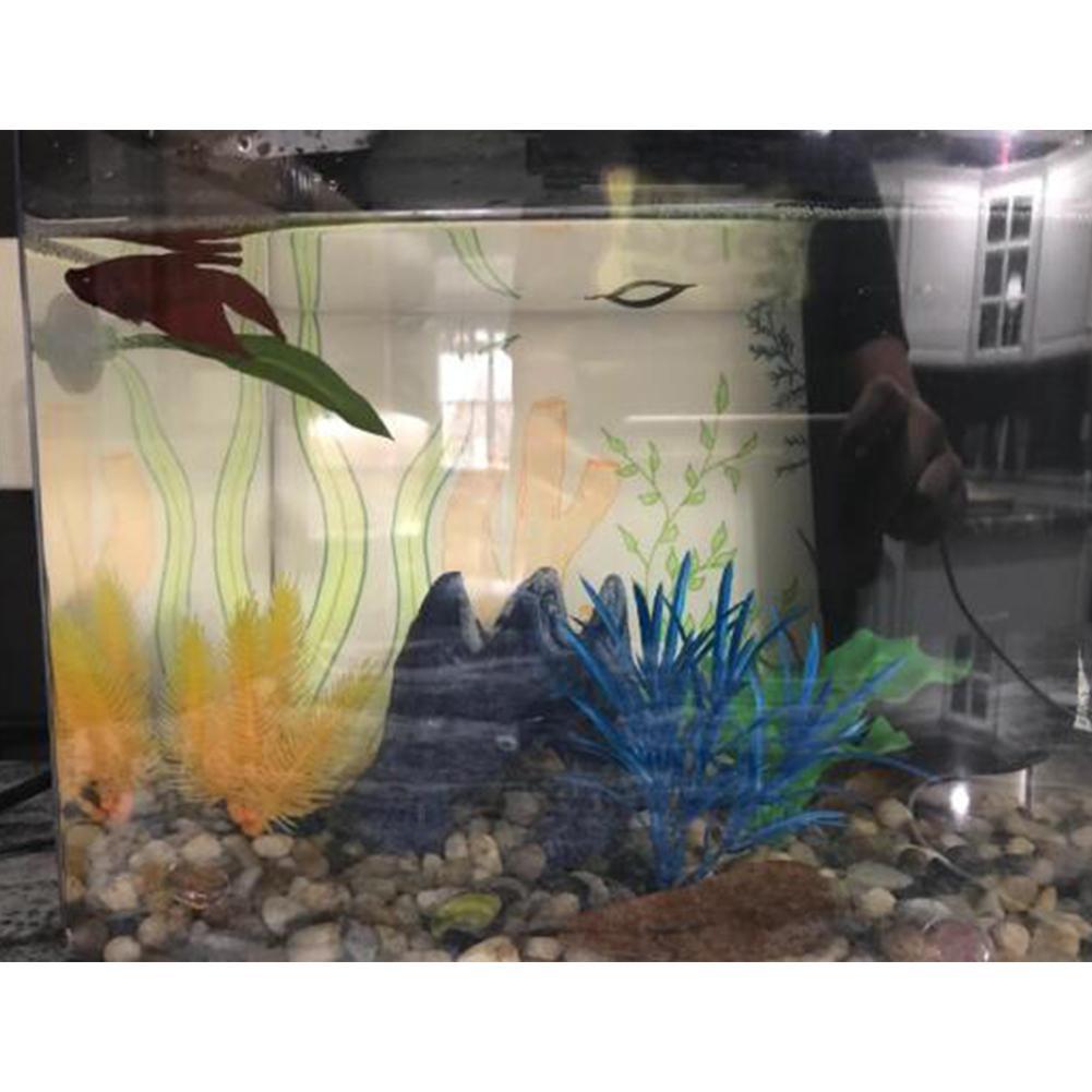 Купить с кэшбэком GloryStar Aquarium Supplies Fish Box Decoration Landscaping Simulation Leaves Rest Leaves