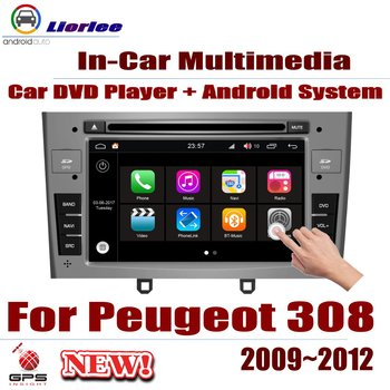 Car DVD Player For Peugeot 308 2009-2012 IPS LCD Screen GPS Navigation Android System Radio Audio Video Stereo