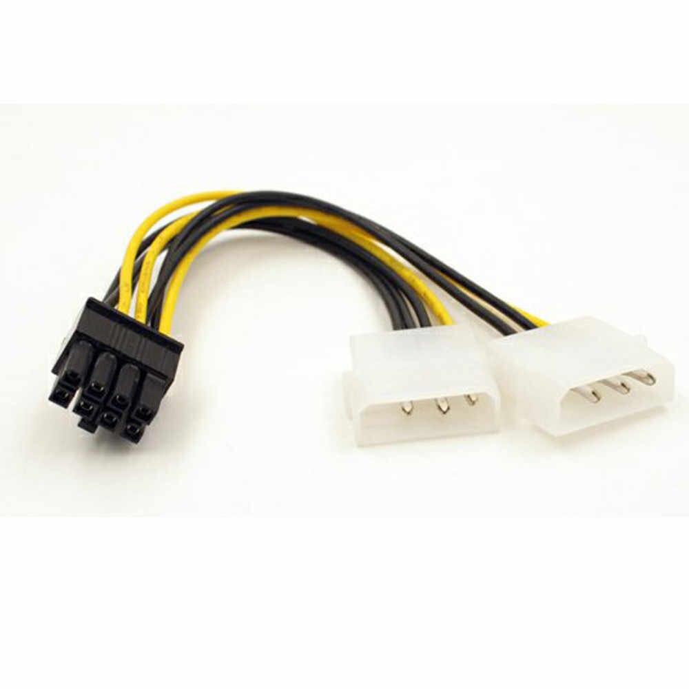 Çift Molex LP4 4 Pin Erkek 8 Pin Dişi EPS Güç Kablosu kordon adaptörü CPU Güç Kaynağı Jul1 Profesyonel Fabrika fiyat