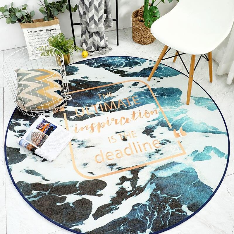 Nordique Tapis Rond Chambre Chaise Accrochante Coussin Star Ordinateur Chaise Coussin Étude Rotatif Chaise Tapis de Thé de Salon Tapis de Table - 6