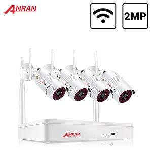 ANRAN Wireless 2MP CCTV Wireless System NVR Kit Outdoor P2P Wifi IP Security Camera Set Video Surveillance Kit Night Vision(China)