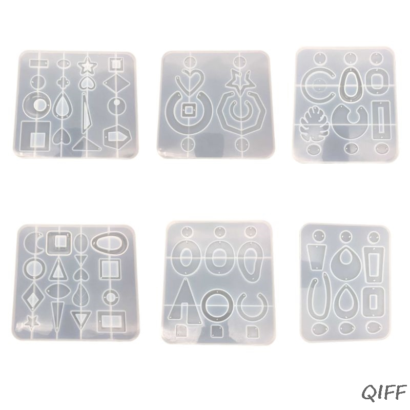 1 Set Resin Accessories Resin Molds For Jewelry Dried Flower Products Earrings Pendant