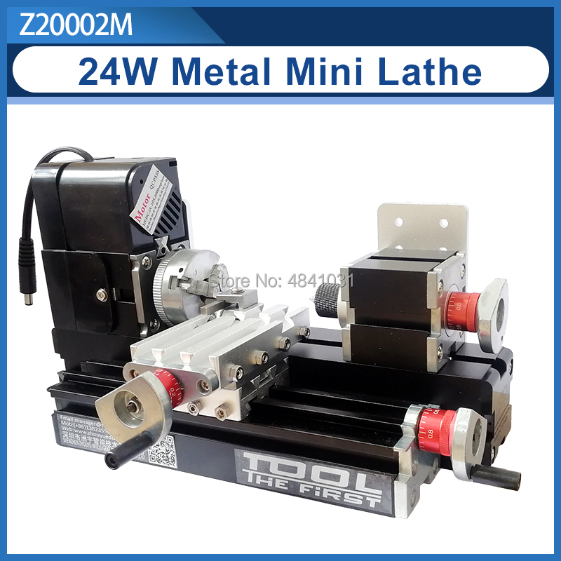 Z20002M 24W Metal Mini Lathe/20000rpm didactical metal lathe machine/mini  lathe for students DIY Works