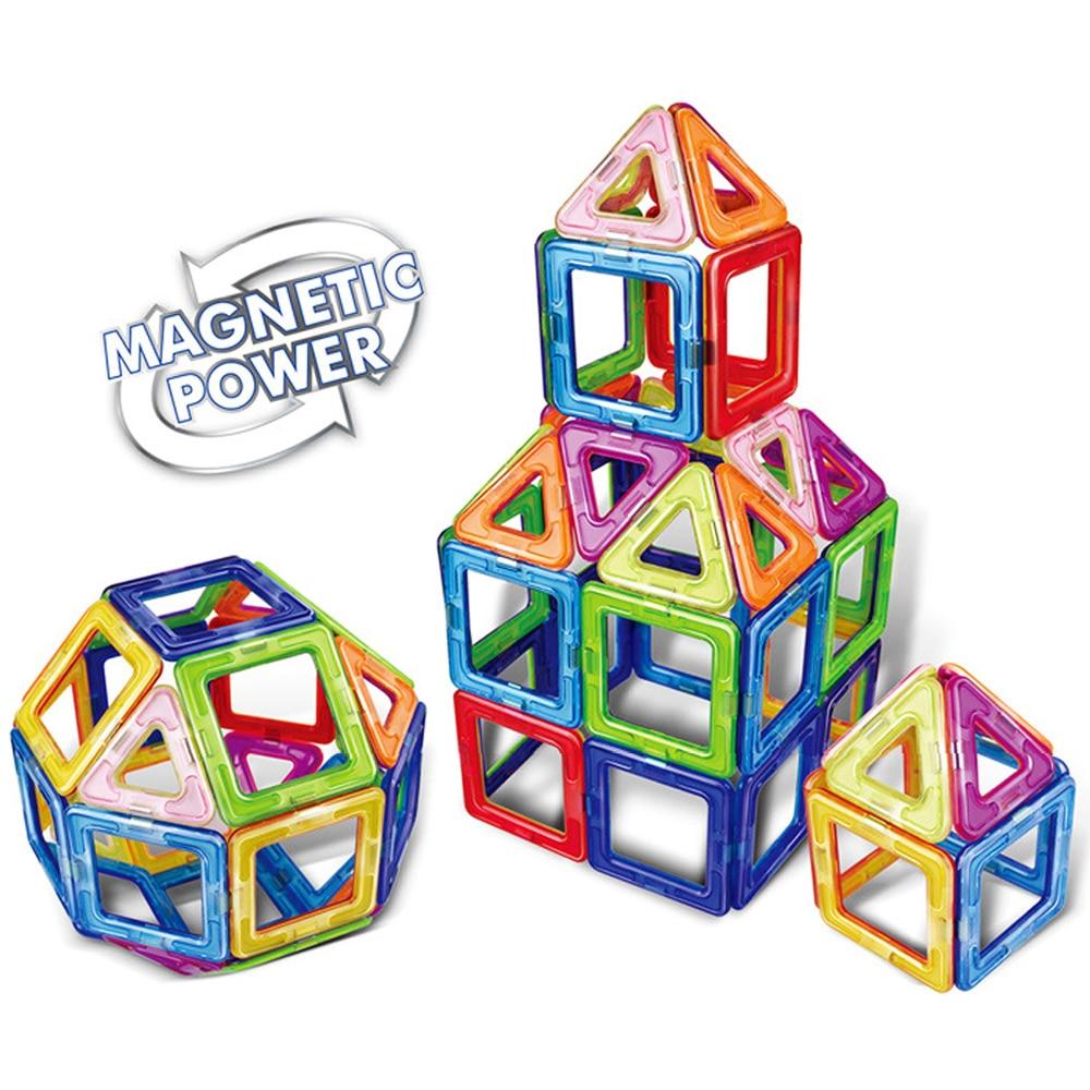 30pcs DIY Magnetic Constructor Triangle Square Big Bricks Magnetic Building Blocks Designer Set Magnet Toys For Children 3