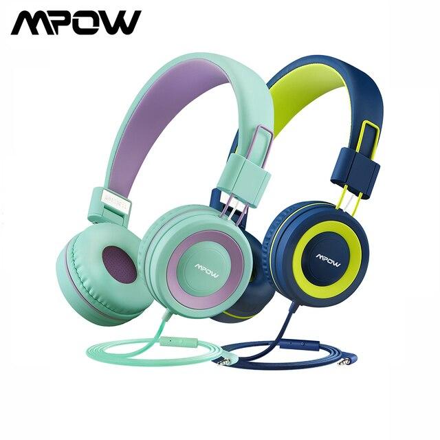 Mpow CH8 dzieci przewodowe słuchawki śliczne składane słuchawki z 85dB ograniczona regulacja głośności i Mic składane zestawy słuchawkowe prezenty dla dzieci