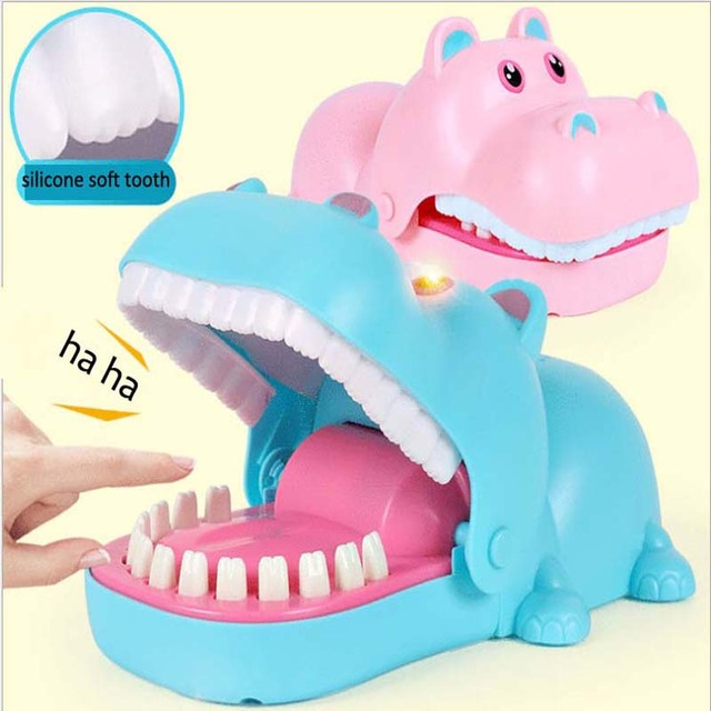 Hand Hippopotamus Lighting Strange New Trick Toys Parody novel Board Game Toys 2
