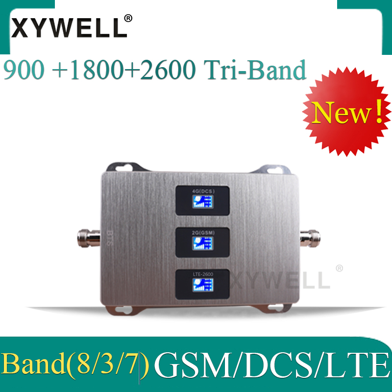 New!! Russia 4g Signal Booster 900 1800 2600 DCS LTE GSM Tri-band Signal Booster Cell Phone Signal Repeater Cellular Amplifier
