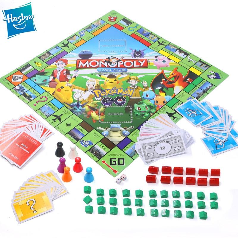 Hasbro  Monopoly Pokemon Toys Adult Family Gaming Education Toy  Board Card Games Kids Toy Pokemon Monopoly