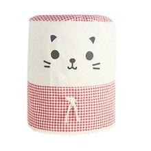 Диспенсер для воды Чехлы хлопковый льняной ткани мультфильм кошка пылезащитный чехол для питьевой машины смешанные цвета