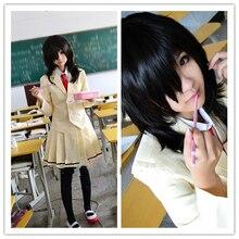 Anime WataMote Tomoko Kuroki Cosplay Costume female  Custom Made